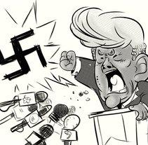 Mr. Trump!. A Illustration project by Iker J. de los Mozos         - 17.03.2017