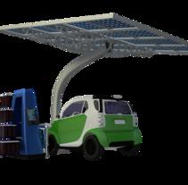 SunCar Aparcamientos para coches eléctricos. Um projeto de 3D de Carlos Roca         - 17.03.2017