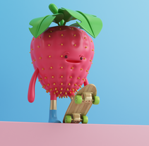 FRUTAS. A Illustration, 3D, and Character Design project by Aarón Martínez         - 18.03.2017