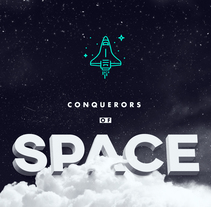 Conquerors of Space - for 36days of Type #4. A Graphic Design, T, pograph, and Calligraph project by Eduardo Dosuá         - 28.03.2017