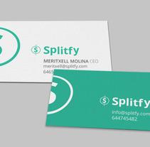Tarjetas y Publicidad Splitfy. Um projeto de Publicidade, Design editorial e Design gráfico de Gema Sahuquillo         - 27.02.2017