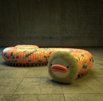 Oruga acorazada multicolor 3D. Un proyecto de 3D de Sergio Casado González - 01-04-2017