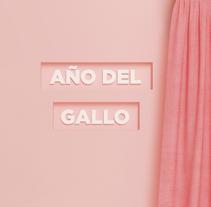 Año del Gallo. Un proyecto de Ilustración, 3D y Dirección de arte de Yolanda Hache         - 02.04.2017