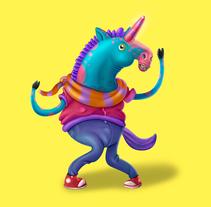 Steve el Unicornio infeliz (Diseño de personaje). Un proyecto de Diseño, Ilustración, Cine, vídeo, televisión, Animación y Diseño de personajes de Felipe Vasconcelos - 22-03-2017