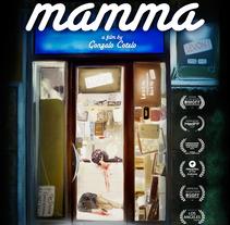 """Poster cortometraje """"Mamma"""". A Illustration, and Film project by Ignacio RC  - 16-04-2017"""