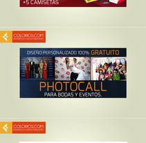 Diseño de Banners Web. Um projeto de Web design de Colorios Publicidad - 14-07-2015
