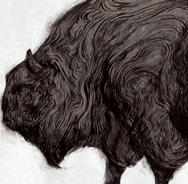 Mastodon Series II. BISON. A Illustration project by Álvaro Cubero González - 31-08-2016