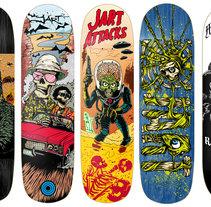 Jart Skateboards - Colección 2017. Un proyecto de Diseño e Ilustración de Marcos Cabrera - 26-04-2017