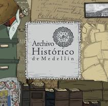 Mural Archivo Histórico de Medellín. Um projeto de Design e Ilustração de ClimaxAmish         - 26.04.2017