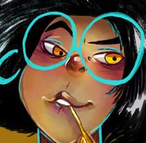 La bruja cuervo. Un proyecto de Ilustración y Diseño de personajes de Venisa Del Aguila - 27-04-2017