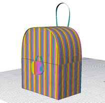 Rainbow case-Mochila en 3D. Um projeto de Ilustração, 3D, Design de acessórios e Moda de Laura Muñoz Estrada - 05-05-2017