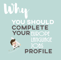 Why you should complete your ELJ profile. A Graphic Design project by Saúl Fraga Moldes         - 08.05.2017