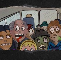 Al trabajo en Bus. Um projeto de Ilustração e Design de personagens de Yumir Canelones         - 12.05.2017