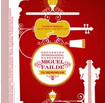 identidad para encuentro internacional danzonero. Un proyecto de Diseño, Br, ing e Identidad, Diseño gráfico, Serigrafía e Ilustración vectorial de Abdel De La Campa Escaig         - 16.02.2016