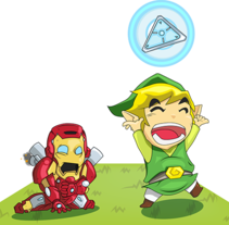 Zelda / Iron man. A Vector illustration project by Daniel Martinez Vera         - 10.02.2013
