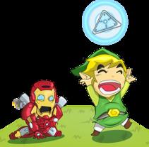 Zelda / Iron man. Um projeto de Ilustración vectorial de Daniel Martinez Vera - 10-02-2013