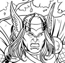 Superman vs. Thor. Un proyecto de Ilustración, Animación, Pintura, Comic e Ilustración vectorial de David Cabeza Ruiz         - 31.05.2017