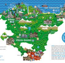 Serie de Ilustraciones para mapa . Un proyecto de Ilustración e Ilustración vectorial de Nerea Guinea Eguiguren         - 06.06.2017