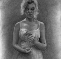 Marilyn Monroe - Dibujo. Um projeto de Artes plásticas de Gerson Eric Pereira Rafael         - 09.06.2017