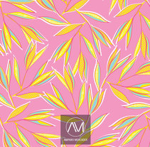 "Estampado ""Yelow & Pink"". A Design, Graphic Design, and Pattern design project by Amparo Mercader - 11-06-2017"
