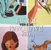 Pascuas franciscanas 2017. Un proyecto de Diseño de personajes, Diseño gráfico e Ilustración vectorial de Natalia Martín - 11-03-2017