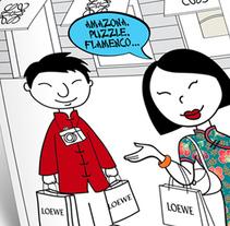 Loewe Madrid - Ilustración . A Comic, and Vector illustration project by Rubén Salazar Almansa - 12-06-2017
