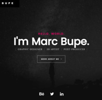 Bupe's Portfolio - Website. A Graphic Design, and Web Development project by Marc Bupe         - 02.05.2017