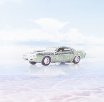 Dodge 1970 Challenger. A Design, Advertising, Photograph, Graphic Design, Set Design, and Collage project by Sebastian  Carbini Princic - 22-06-2017