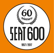 Logotipo Seat600 60 aniversario Monocromo. Un proyecto de Diseño, Dirección de arte, Br, ing e Identidad y Diseño gráfico de Javier Gómez Ferrero - 11-07-2017