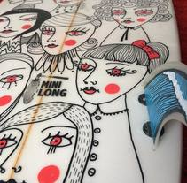 Custom surfboard. A Design, Illustration, and Character Design project by Sonia Puga García         - 27.06.2017