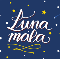 Proyecto final : Los secretos dorados del lettering | Postal lunar. A Calligraph, and Lettering project by Antia Otero Couselo - 06-07-2017