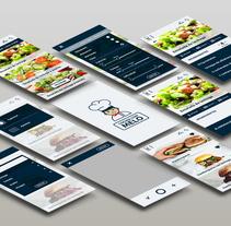 Cocina con Melo- App. Un proyecto de Diseño gráfico y Diseño interactivo de Andrea Teruel - 11-07-2017