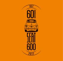 Camisetas 60 aniversario SEAT 600. Un proyecto de Diseño, Dirección de arte, Br, ing e Identidad y Diseño gráfico de Javier Gómez Ferrero - 11-07-2017