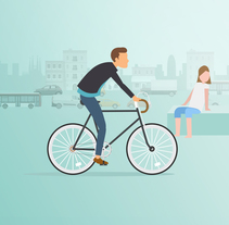 Barcelona 100% verde y renovable. A Illustration, Motion Graphics, Animation, and Video project by minsk         - 14.07.2017