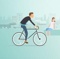 Barcelona 100% verde y renovable. Um projeto de Ilustração, Motion Graphics, Animação e Vídeo de minsk         - 14.07.2017