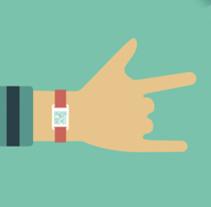 Infografía para explicar el funcionamiento de las pulseras ALL DATA. Un proyecto de Diseño, Ilustración, Diseño gráfico, Diseño de la información e Ilustración vectorial de Lidia Lobato - 03-01-2017
