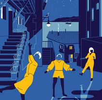 Cartel las 3 noches de Lastres 2015. Um projeto de Design e Ilustração de jessicanievesvieira         - 05.08.2015