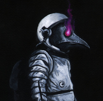 Space Horseman of the Apocalypse. A Painting project by Rubén Megido         - 18.10.2015