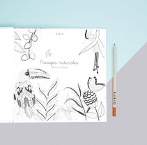 Paisajes Naturales. A Illustration, and Editorial Design project by Laura  Inat - 31-08-2016