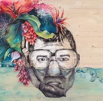 Alegre mar de lágrimas. Un proyecto de Ilustración, Bellas Artes y Pintura de Laucky Ilustra         - 24.08.2017