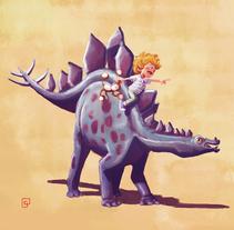 Dinosaur_Nephew. Un proyecto de Ilustración, Diseño de personajes y Bellas Artes de Carlos de Hevia - 30-08-2017