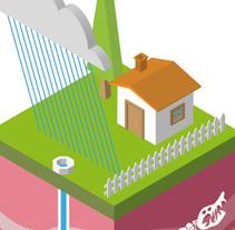 Casa en Perspectiva Isométrica.. Un proyecto de 3D e Ilustración vectorial de Carlos Vargas Gutiérrez         - 31.08.2017