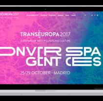 Trans Europa festival. Un proyecto de Desarrollo Web de David thehobocode - 01-08-2017