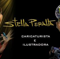 CARICATURA DIGITAL. Um projeto de Ilustração, Design de personagens, Artes plásticas e Design gráfico de STELLA  PERALTA - 09-09-2017