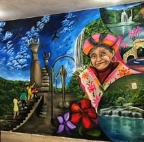 Huasteca Potosina mural. Um projeto de Arte urbana de Héctor Armando Domínguez Rodríguez - 19-09-2017