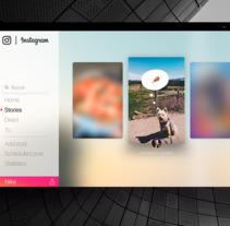 Instagram concept for windows 10. A UI / UX project by Carlos Pérez         - 22.09.2017