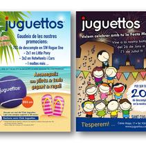 Juguettos flyer verano. Un proyecto de Publicidad, Gestión del diseño, Diseño gráfico y Retoque digital de Tatiana Lázare García         - 13.06.2017
