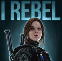 I REBEL. Star Wars. A Illustration project by Jorge M. Hernández Alférez         - 27.09.2017