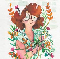 Acuarelas y retratos floreados . A Illustration project by Elva Vázquez Lombardía         - 28.09.2017