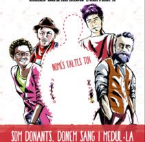 Nueva Campaña DONACIÓ SANG I MEDUL·LA ALCOI SOL·LIDARI. A Illustration, Advertising, and Graphic Design project by Punts suspensius  ilustración y diseño  - 28-09-2017